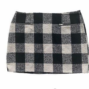 Forever 21 Black&White Plaid Mini Skirt-2X